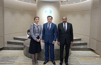 SCO Secretary-General meets with the League of Arab States Mission head and the Lebanese Ambassador to China