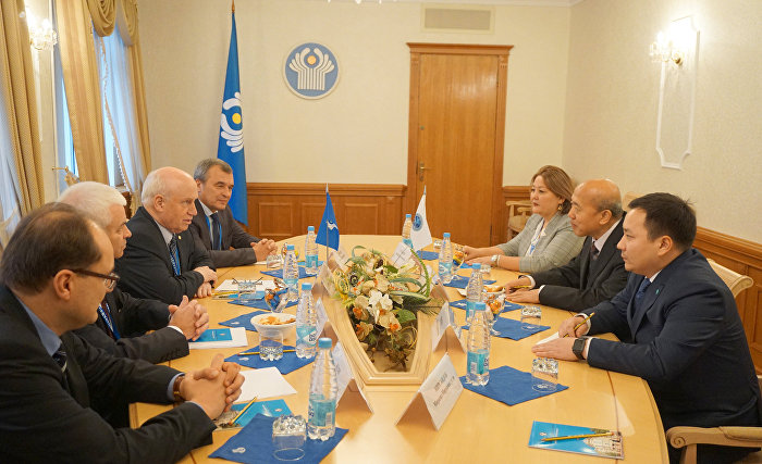 Meeting at the Headquarters of the Executive Committee of the Commonwealth of Independent States
