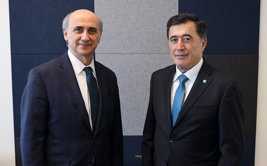 SCO Secretary-General Vladimir Norov meets with Director of the UN Secretariat Europe and Central Asia Division Levent Bilman