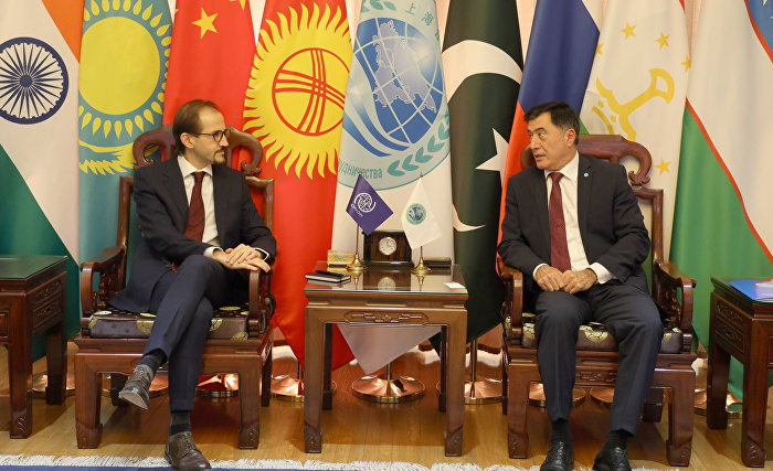 SCO Secretary-General meets with Chief of International Organisation for Migration Mission in China