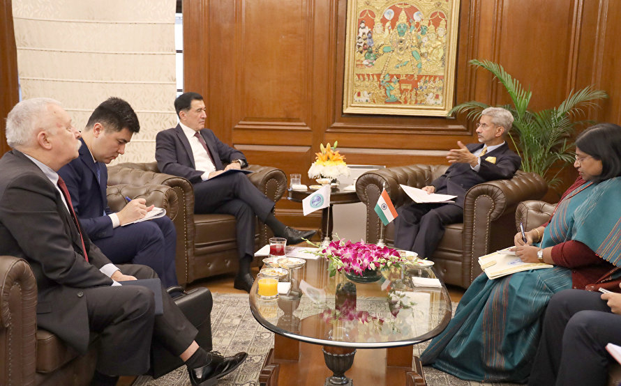 SCO Secretary-General Vladimir Norov meets with Indian Minister of External Affairs Subrahmanyam Jaishankar