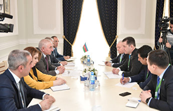 Deputy SCO Secretary-General Sherali Jonon meets with Chairman of the Central Election Commission of Azerbaijan Panakhov