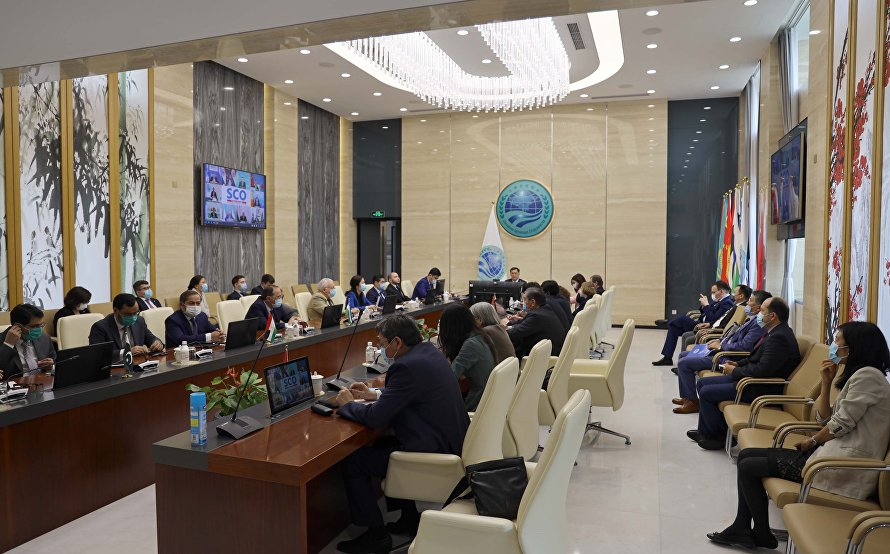 Video conference of SCO foreign ministers