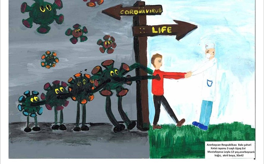 Online exhibition of children's pictures from SCO countries