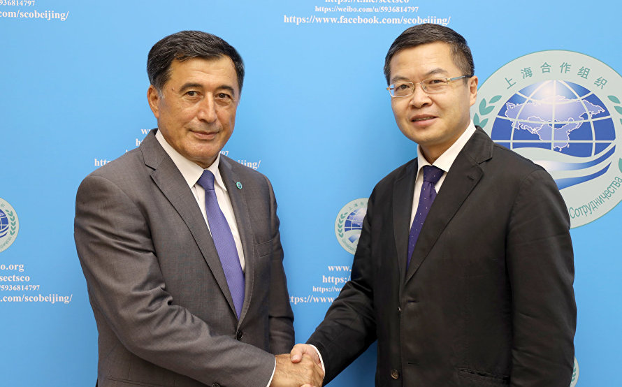 SCO Secretary-General meets with CGTN delegation at SCO Secretariat