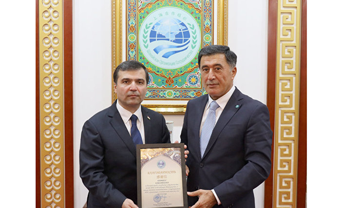 Reception to mark the end of the ambassadorship of Ambassador Extraordinary and Plenipotentiary of the Republic of Tajikistan to the People's Republic of China Parviz Davlatzoda