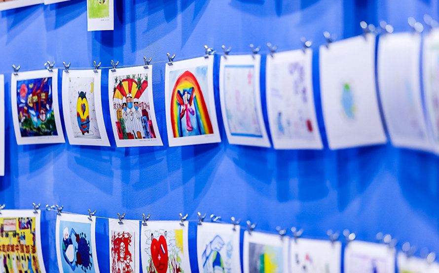 Children's art exhibition from SCO countries opens at Shanghai Art Fair