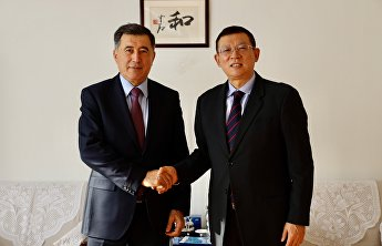 SCO Secretary-General Vladimir Norov meets with Director General of Chinese Centre for Language Education and Cooperation Ma Jianfei